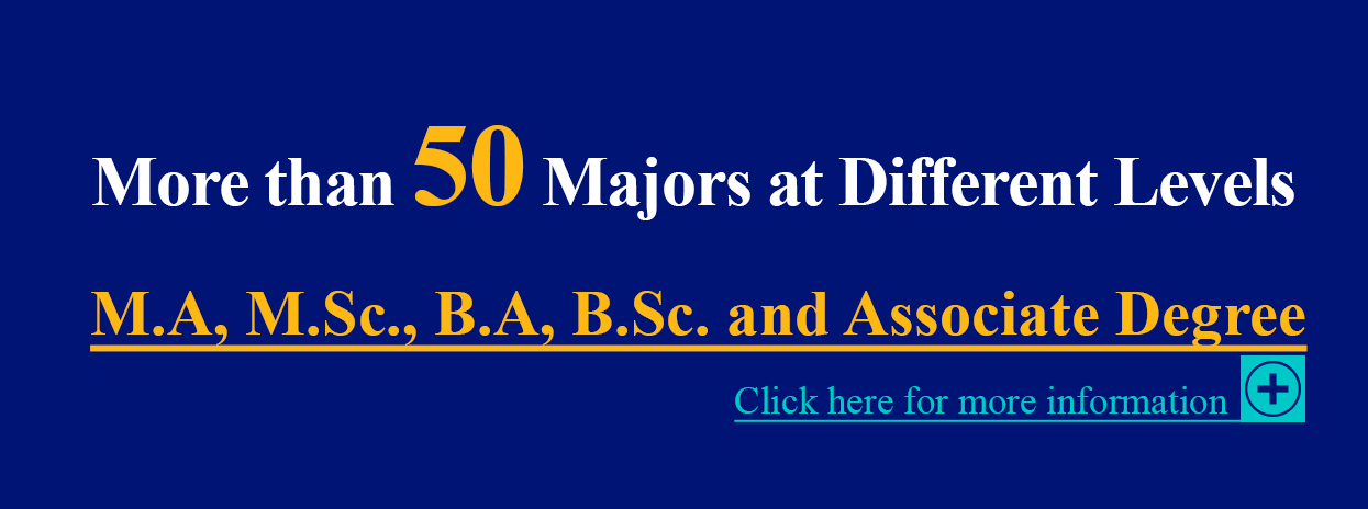 More than 50 majors at different levels